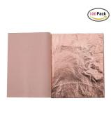 Kinxor 100 Sheets Imitation Gold Leaf for Arts, Gilding Crafting, Furniture Decoration, 14cm by 14cm