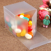 Zantec PVC Plastic Boxes Gift Favour Square Frosted for Wedding Party