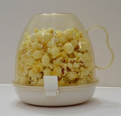 Cuisine Magic Microwave Popcorn Popper with Cup Cover and Tray - Microwave Safe + Dishwasher Safe + BPA Free + PVC Free + No Oil Required (Size