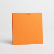 Orange Pearlescent Wallet Invites 125mmx125mm From Pocketfold Invites LTD