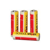 School Smart Alkaline AA Battery, Pack of 4