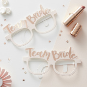 Ginger Ray Hen Party Team Bride Rose Gold Paper Glasses x 8 - Team Bride