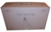 My Special Day - Airline Silver Printed White Wedding Dress Flight Box