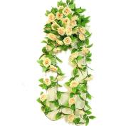 Wedding decoration Artificial Fake Rose Flower Bunch Hanging Garland Wedding Home Decor For Xmas