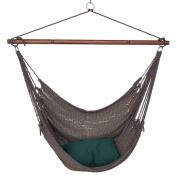 Caribbean Hammocks Jumbo Hand-Woven Hammock Chair with Footrest