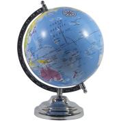 ElectroBot Medium Size Rotating World Globe For Table, Bookshelf, Shelf, Wall Ledge, Decorative And Educational 20cm