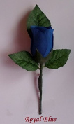 Wedding Buttonhole Silk Rose Bud & Safety Lapel Pin Attached
