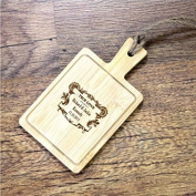 Personalised Mini Wooden Cheese Board Crest Design