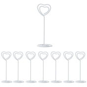 8 Pieces White Heart Shaped Name Card Holders KH004 ideal for Name Tags and Table Decoration