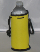 Water Bottle cooler with Drawstring & Clip, Yellow