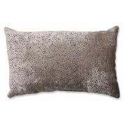 Pillow Perfect Tuscany Dots Flax Cut Velvet Rectangular Throw Pillow