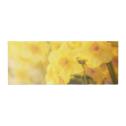 """KESS InHouse Angie Turner """"Dreamy Daffodils"""" Yellow Nature Bed Runner, 90cm x 220cm"""