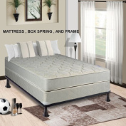 Continental Mattress, 23cm Fully Assembled Gentle Firm Orthopaedic Back Support Full Mattress and Box Spring With Bed Frame,Hollywood Collection
