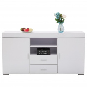 GTM Sideboard Table Cabinet Cupboard Dining Buffet 2 Doors /2 Drawers Living Room Furniture