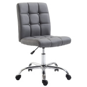 Poly and Bark Aria Task Chair in Vegan Leather, Grey