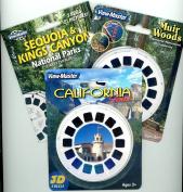California - Sequoia/Kings - Muir Woods - Triple Vintage ViewMaster Set - 9 Reels
