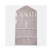 Xiting 16 Pockets Hanging Closet Door Hanging Bag Shoe Rack Hanger Underwear Socks Bra Ties Storage Tidy Organise