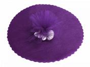 100 x Tulle Organza Round veletti DIY Wedding Favours Confetti purple