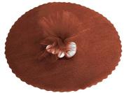 100 x Tulle Organza Round veletti DIY Wedding Favours Confetti brown