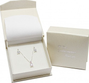 Sterling Silver Bridesmaid Gift set - Chain,Pendant,Earrings