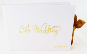 Wedding Guest Signing Book White Gold Family Friends Messages Bride & Groom Gift