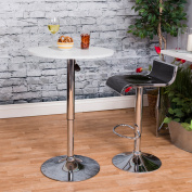 Vogue Furniture Black Acrylic with Chrome Outline Swivel/Hydraulic Barstool and Chrome Tearsdrop Footrest VF1581019