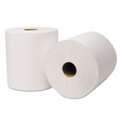 EcoSoft Universal Roll Towels, 240m x 20cm , White, 6 Rolls/Carton, Sold as 1 Carton, 6 Roll per Carton