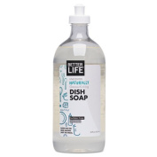 Naturally Grease-Kicking Dish Soap, Unscented, 650ml Bottle, Sold as 1 Each