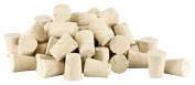 100 tapered cork stoppers (bottle stoppers, conical cork, bung stopper)   length = 32 mm, ⌀ = 20-25 mm (for wine bootles or big test tubes 32x25/20) Natural Corks