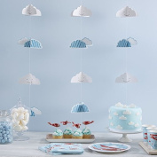 Ginger Ray 3D Kids Cloud Backdrop Party Bunting Decoration - Flying High