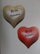 4 large Valentines Heart Stickers - Realistic 3D effect