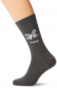 "Wedding and Party Store ""Usher"" Designer Wedding Socks, Grey"