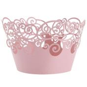 RoyalTop 50pcs Paper Lace Cup Cake Wrapper Table Decor Wedding Birthday Decoration