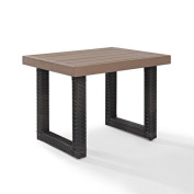 Crosley Furniture CO7229-BR Beaufort Faux Wood Outdoor Side Table