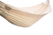 Soft Woven Cotton Hammock, Natural Colour, King-Size Single, Portable, Lightweight, Comfortable Fabric For Outdoor, Backyard, Porch Or Indoor Use.