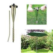 22''Long Soild Metal Rod holder Beach/Garden Umbrella Sand Flag Pole Holder/Grass Anchor/ Ground Spike Base For Rotary Dryer Clothes Line