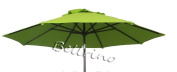 """BELLRINO DECOR Replacement SAGE GREEN """" STRONG & THICK """" Umbrella Canopy for 2.7m 6 Ribs SAGE GREEN"""