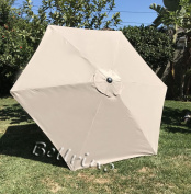 """BELLRINO DECOR Replacement LIGHT COFFEE / TAN """" STRONG & THICK """" Umbrella Canopy for 2.7m 6 Ribs LIGHT COFFEE / TAN"""