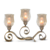 Pilgrim Home and Hearth 17506 Mayfair Fireplace Candelabra Candle Holder, Distressed Gold