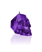Candellana Candles Small Skull Candellana Candle, Violet Metallic