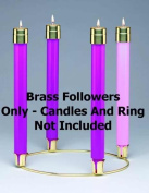Candle-Advent-Emitte Elite Lite Brass Followers for #430
