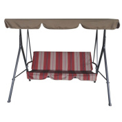 LB International 3 Seat Swing with Canopy Leaf Style
