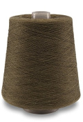 Flaxen Europe 100% Linen Yarn Cone - 2.700 metres - 12x12x16 cm - 0,5 KG (1 LBS) - Twisted from 3 PLY - Light Greenish Colour - Pure Flax Thread For Hand and Machine Sewing, Weaving, Crochet, Embroidering