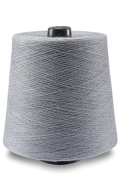 Flaxen Europe 100% Linen Yarn Cone - 2.700 metres - 12x12x16 cm - 0,5 KG (1 LBS) - Linen Yarn Amazon - Bluish Grey Colour - Pure Flax Thread For Hand and Machine Sewing, Weaving, Crochet, Embroidering