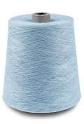 Flaxen Europe 100% Linen Yarn Cone - 2.700 metres - 12x12x16 cm - 0,5 KG (1 LBS) - Twisted from 3 PLY - Light Blue - Pure Flax Thread For Hand and Machine Sewing, Weaving, Crochet, Embroidering