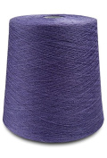 Flaxen Europe 100% Linen Yarn Cone - 2.700 metres - 12x12x16 cm - 0,5 KG (1 LBS) - Twisted from 3 PLY - Blueish Purple - Pure Flax Thread For Hand and Machine Sewing, Weaving, Crochet, Embroidering