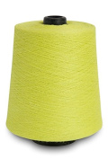 Flaxen Europe 100% Linen Yarn Cone - 2.700 metres - 12x12x16 cm - 0,5 KG (1 LBS) - Twisted from 3 PLY - Citrus Yellow - Pure Flax Thread For Hand and Machine Sewing, Weaving, Crochet, Embroidering