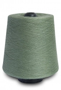 Flaxen Europe 100% Linen Yarn Cone - 2.700 metres - 12x12x16 cm - 0,5 KG (1 LBS) - Twisted from 3 PLY - ANTIQUE GREEN colour - Pure Flax Thread For Hand and Machine Sewing, Weaving, Crochet, Embroidering