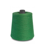 Flaxen Europe 100% Linen Yarn Cone - 2.700 metres - 12x12x16 cm - 0,5 KG (1 LBS) - Twisted from 3 PLY - Green Colour - Pure Flax Thread For Hand and Machine Sewing, Weaving, Crochet, Embroidering