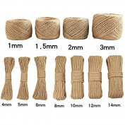 Yiwa Yellow Knitting Handmade Jute Rope DIY Vintage Decoration